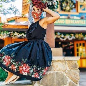 NEW- Collectif Jasmine Festive Flower Skirt
